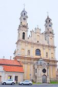 image of a VILNIUS,LITHUANIA, November 17, 2014: view of the Vilnius church