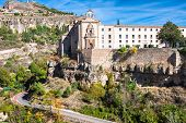 stock photo of parador  - Parador nacional of Cuenca in Castille La Mancha Spain.