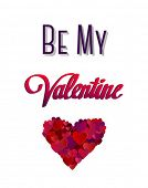 Digitally generated Be my valentine vector with heart