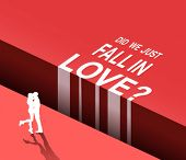 Digitally generated Did we just fall in love vector