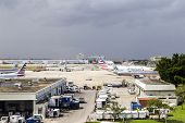 American Airlines Aircraft In Miami Airport