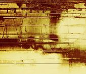 Grunge texture with decorative elements and different color patterns: gray; brown; yellow
