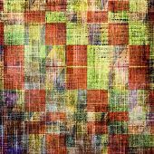 Old texture with delicate abstract pattern as grunge background. With different color patterns: orange; brown; yellow; green