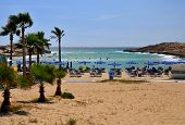 Playa de belleza en Ayia Napa - Chipre