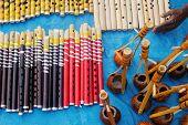 Flutes And Monochords,  Indian Handicrafts Fair At Kolkata