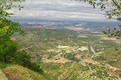 stock photo of gory  - Spain. Kataloniya.Gory an array and The monastery Montserrat. Landscapes and Attractions