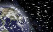 image of nostradamus  - An impressive falling of asteroids hits the earth and causes the end of mankind - JPG