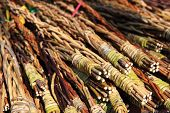 stock photo of flogging  - czech easter rods background (part of czech tradition)