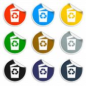 Trash Can Icon, Vector Eps10 Illustration