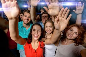 picture of waving hands  - party - JPG