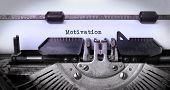 pic of old vintage typewriter  - Vintage inscription made by old typewriter motivation - JPG