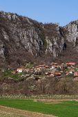 foto of serbia  - Panorama of Vlasi Village and rock formation - JPG
