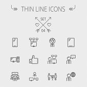 stock photo of internet icon  -  Technology thin line icon set for web and mobile - JPG