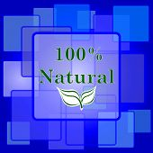stock photo of 100 percent  - 100 percent natural icon - JPG