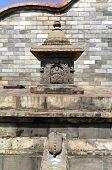 foto of manga  - Manga Hiti carved public fountain in Kathmandu Nepal - JPG