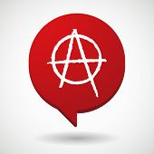 picture of anarchists  - Illustration of a comic balloon icon with an anarchy sign - JPG