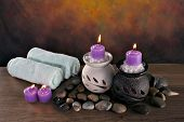foto of ear candle  - spa items ready for client to relax - JPG