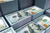 stock photo of million-dollar  - dollar banks note money background - JPG