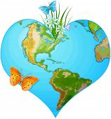picture of greenpeace  - Illustration of earth in the form of heart - JPG