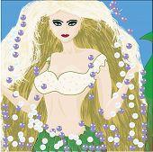 foto of mermaid  - Beautiful mermaid is a princes of deep see - JPG