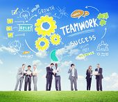 picture of collaboration  - Teamwork Team Together Collaboration Business People Communication Concept - JPG