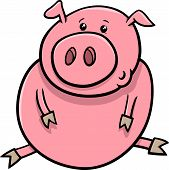 pic of piglet  - Cartoon Illustration of Cute Baby Pig or Piglet Farm Animal - JPG