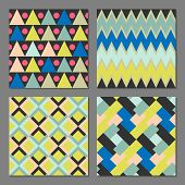 stock photo of color geometric shape  - Set of abstract geometric patterns - JPG