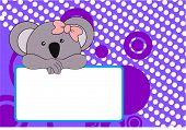 picture of koalas  - cute baby koala girl background in vector format very easy to edit - JPG