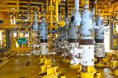 image of offshore  - Oil and gas production slot on the platform - JPG