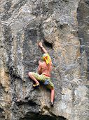 picture of mountain-climber  - The rock - JPG
