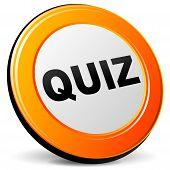picture of quiz  - illustration of quiz 3d design orange icon - JPG