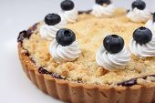 stock photo of cherry pie  - Delicious homemade cherry pie with isoleted on white - JPG
