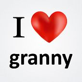 picture of grandma  - Card for Grandma i love granny message - JPG