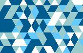 stock photo of color geometric shape  - Retro pattern of geometric shapes - JPG