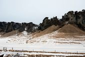 image of iceland farm  - View of mountains - JPG