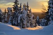 image of laplander  - Winter landscape on snowy mountain Lapland Finland - JPG