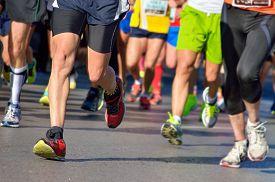 pic of foot  - Marathon running race - JPG