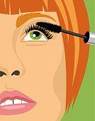 Girl Dyeing Eyelashes