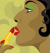 Latin Woman With Lipstick