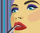 Woman With Lipstick