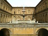 picture of pompous  - The fountain courtyard of Florence Italy - JPG