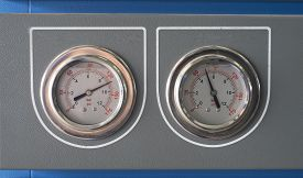 picture of chromatography  - Pressure gauge for measuring pressure in the system - JPG