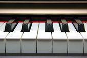 Piano Keyboard frontal