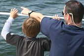 Son Inspired By Father While Taking A Boat Ride!