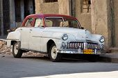 HAVANA-JANUARY 15:Classic DeSoto January 15,2012 in Havana.Before a new law issued on October 2011,c