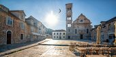 Street View Of Hvar Town In Croatia. Hvar Town Is The Famous Town For Summer Beach Vacation On Hvar  poster