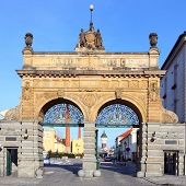 PILSEN CZECH REPUBLIC - JANUARY 18: historic gate to famous Czech Prazdroj Brewery. Since 1842 produ