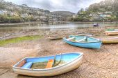 Boats On The River Between Noss Mayo And Newton Ferrers Devon In Hdr poster