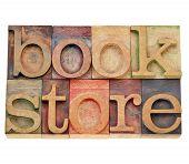 Bookstore Word In Letterpress Type