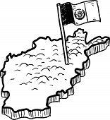 Afghanistan map sketch